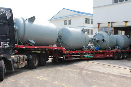 内蒙古4台10000L纯S30408机械密封反应釜