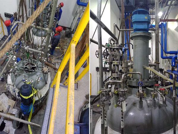 重庆制药公司3000L-1000L磁力反应釜现场调试
